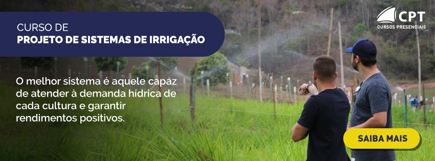 Cursos de projeto de irrigação