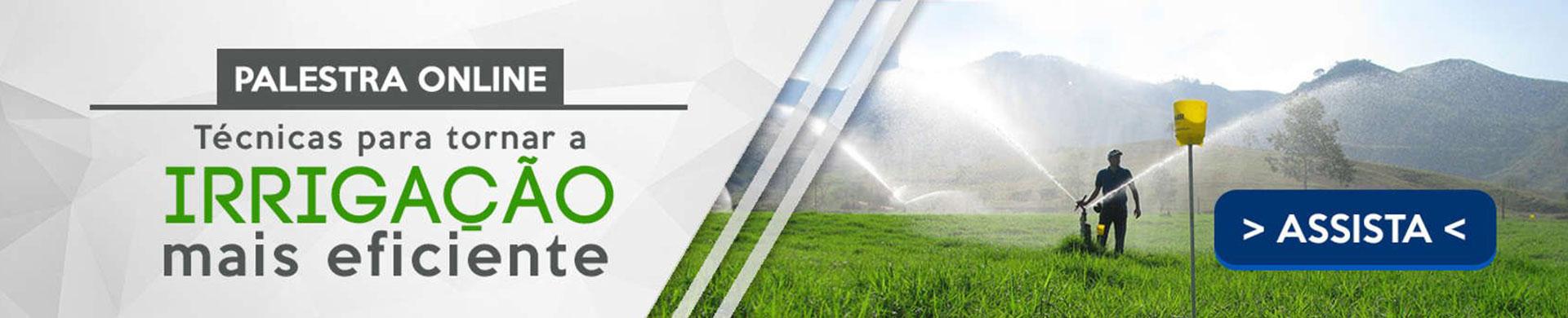 Palestra online sobre Técnicas para tornar a irrigação mais eficiente
